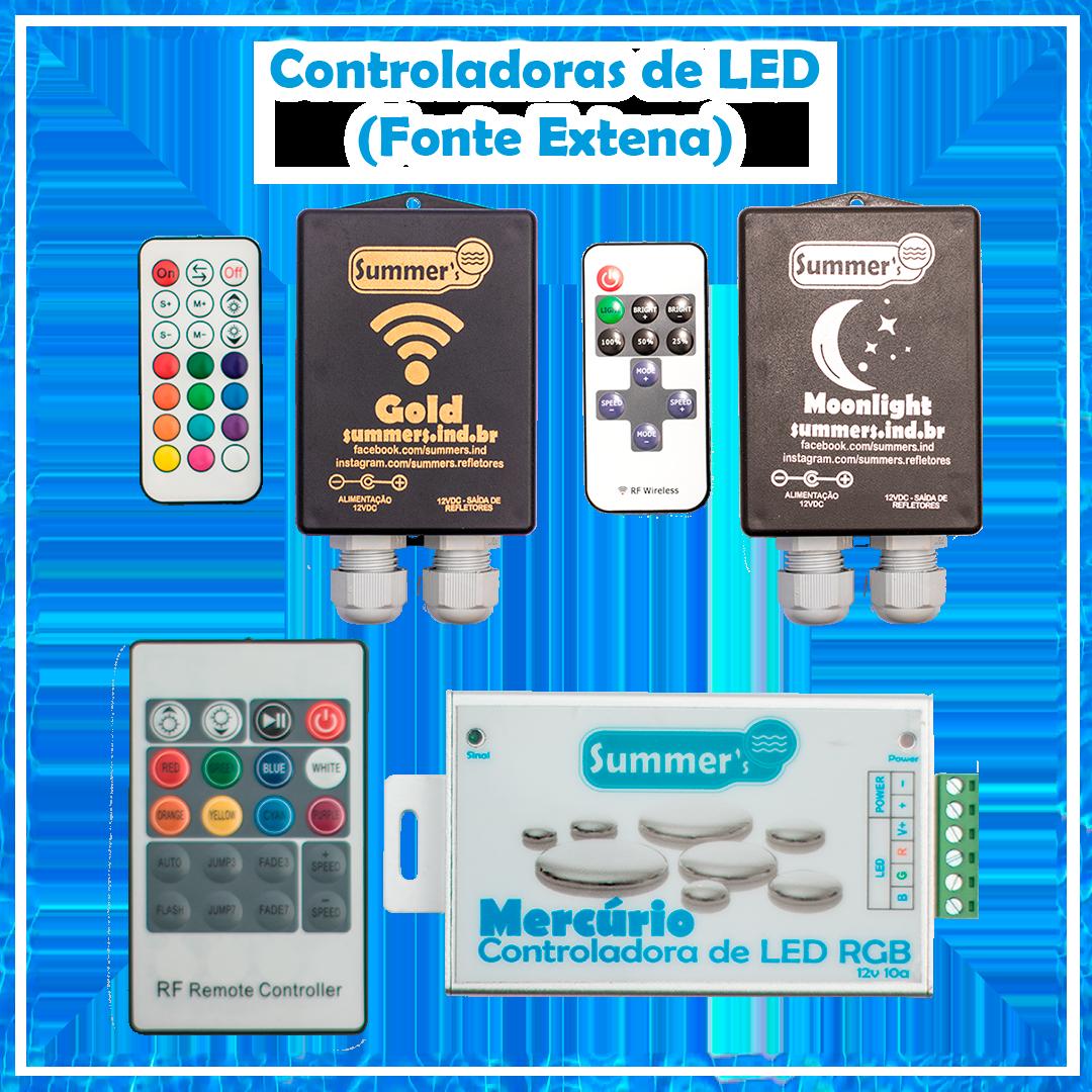 Controladoras de LED (Fonte Externa)