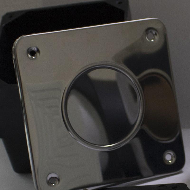 Plástica caixa de passagem quadrada tampa inox
